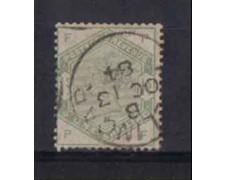 1883/84 - LOTTO/3526 - GRAN BRETAGNA - 1 Sc. VERDE