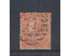 1865 - LOTTO/3530 - GRAN BRETAGNA - 4p. ROSSO ARANCIO - TAV. 9