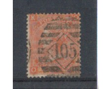 1865 - LOTTO/3531 - GRAN BRETAGNA - 4p. ROSSO ARANCIO - TAV. 11