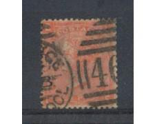 1865 - LOTTO/3532 - GRAN BRETAGNA - 4p. ROSSO ARANCIO - TAV. 12