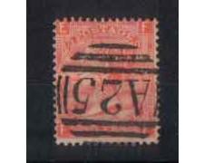 1865 - LOTTO/3533 - GRAN BRETAGNA - 4p. ROSSO ARANCIO - TAV. 13