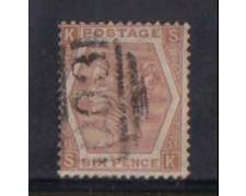1872 - LOTTO/3539 - GRAN BRETAGNA - 6p. BISTRO CHIARO - TAV.11