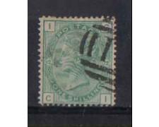 1873 - LOTTO/3544 - GRAN BRETAGNA - 1Sc. VERDE - TAV. 12