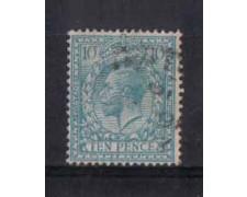 1912/22 - LOTTO/3557 - GRAN BRETAGNA - 10p. AZZURRO VERDE - USAT