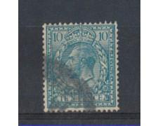 1924 - LOTTO/3558 - GRAN BRETAGNA - 10p. AZZURRO - USATO