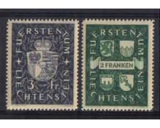 1939 - LOTTO/3569 - LIECHTENSTEIN - STEMMI PRINCIPI