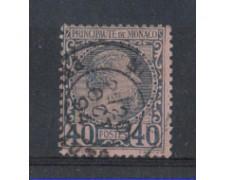 1885 - LOTTO/3578 - MONACO - 40c. AZZURRO SU ROSA