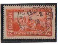 1933 - LOTTO/8542UO - MONACO - 3,50 Fr. VEDUTE - USATO