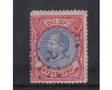1872 - LOTTO/3584MU - OLANDA -2,50 ROSA OLTREMARE - USATO