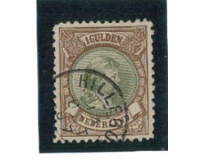 1891 - LOTTO/3587BU - OLANDA - 1 GULDEN BRUNO - USATO