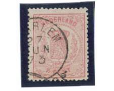 1869/71 - LOTTO/3589IU - OLANDA - 1,5 ROSA - USATO