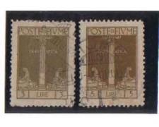 1923 - LOTTO/3615 -  FIUME - 3/5 LIRE  S. VITO USATI