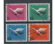 1955 - LOTTO/3632A - GERMANIA  FEDERALE - LUFTHANSA 4v.