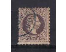 1867 - LOTTO/3694 - AUSTRIA LEVANTE - 25s. LILLA