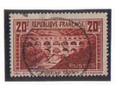 1929 - LOTTO/FRA262AU - FRANCIA - 20 Fr.VEDUTE - USATO