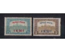1918 - LOTTO/3732 - UNGHERIA - POSTA AEREA