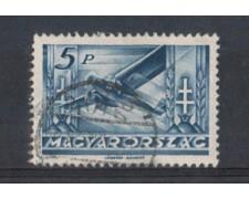 1936 - LOTTO/3735 - UNGHERIA - 5p. POSTA AEREA