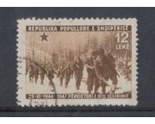 1947 - LOTTO/3763 - ALBANIA - ANNIV. LIBERAZIONE 12 LEKE