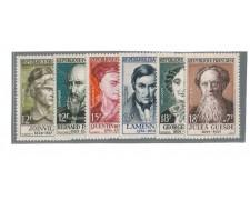 1957 - LOTTO/FRA1113CPN - FRANCIA - PERSONAGGI CELEBRI 6v. - NUOVI