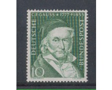 1955 - LOTTO/3788 - GERMANIA FEDERALE - FRIEDRICH GAUSS 1 - NUOVO