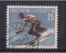 1955 - LOTTO/3804U - LIECHTENSTEIN - 25R. SCI DISCESA - USATO