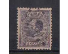 1872 - LOTTO/3584LU - OLANDA - 1 GULDEN VIOLETTO - USATO