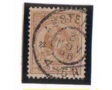 1891 - LOTTO/3586LU - OLANDA - 50c. BRUNO GIALLO - USATO