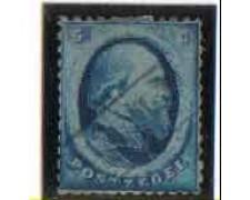 1864 - LOTTO/3808 - OLANDA - 5c. AZZURRO - USATO
