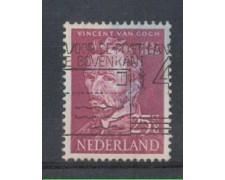 1954 - LOTTO/8747EU - OLANDA - 25+8c. VAN GOGH - USATO