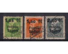 BAVIERA- 1919- LOTTO/3840 - SOPRASTAMPATI 3v.