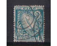 1940/45 - LOTTO/3860 - IRLANDA - 1 Sc. AZZURRO