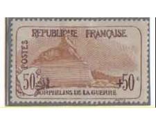 1917/19 - LOTTO/FRA153L - FRANCIA 50+50C. PRO ORFANI GUERRA LING.