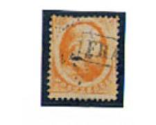 1864 - LOTTO/4008 - OLANDA - 15c. ARANCIO - USATO