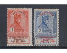 1914 - LOTTO/4044 -UNGHERIA - 1 Kr. /2 Kr. SOPRASTAMPATI