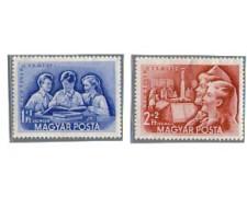 1952 - LOTTO/4052 - UNGHERIA - 25° GIORNATA FRANCOBOLLO