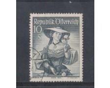 1948/50 - LOTTO/4078U - AUSTRIA - 10Sc. COSTUMI  USATO