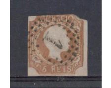 1856 - LOTTO/9608U - PORTOGALLO - 5r. BRUNO GIALLO - USATO