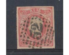 1866 - LOTTO/9620UA - PORTOGALLO - 25 r. ROSA - USATO