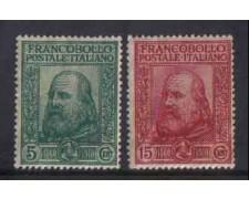 1910 - LOTTO/REG87CPN - REGNO - GIUSEPPE GARIBALDI 2v. NUOVI