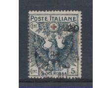 1915/16 - LOTTO/REG104UC - REGNO - 20 SU 15c. CROCE ROSSA - USAT