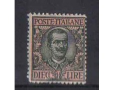 1910 - LOTTO/REG91L - REGNO - 10 LIRE FLOREALE - T/L.