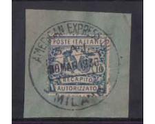 1928 - LOTTO/REGCAP2US - REGNO - 10c. RECAPITO - USATO