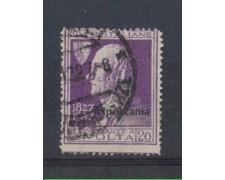 1927 - TRIPOLITANIA -  LOTTO/4226 - 20c. VIOLETTO A. VOLTA - USAT