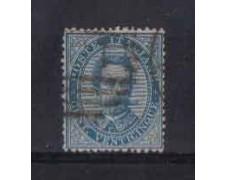 1879 - LOTTO/REG40U - REGNO - 25c. AZZURRO RE UMBERTO - USATO