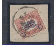 1878 - LOTTO/REG29UF - REGNO - 2c. SU 0,02 LACCA - SU FRAMMENTO