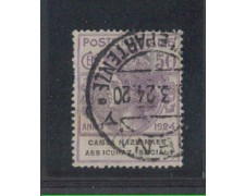 1924 - LOTTO/REGSS28U - REGNO - 50c. CASSA ASS. SOCIALI - USATO