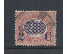 1878 - LOTTO/REG34U - REGNO - 2c. SU 2,00 LACCA - USATO