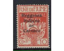 1920 - LOTTO/4359 - FIUME - 10c. REGGENZA DEL CARNARO