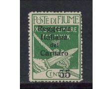 1920 - LOTTO/4360 - FIUME - 55 su 5c. REGGENZA DEL CARNARO