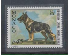 1973 - LOTTO/4363 - MONACO - 45c. ESPOSIZIONE CANINA PASTORE TED